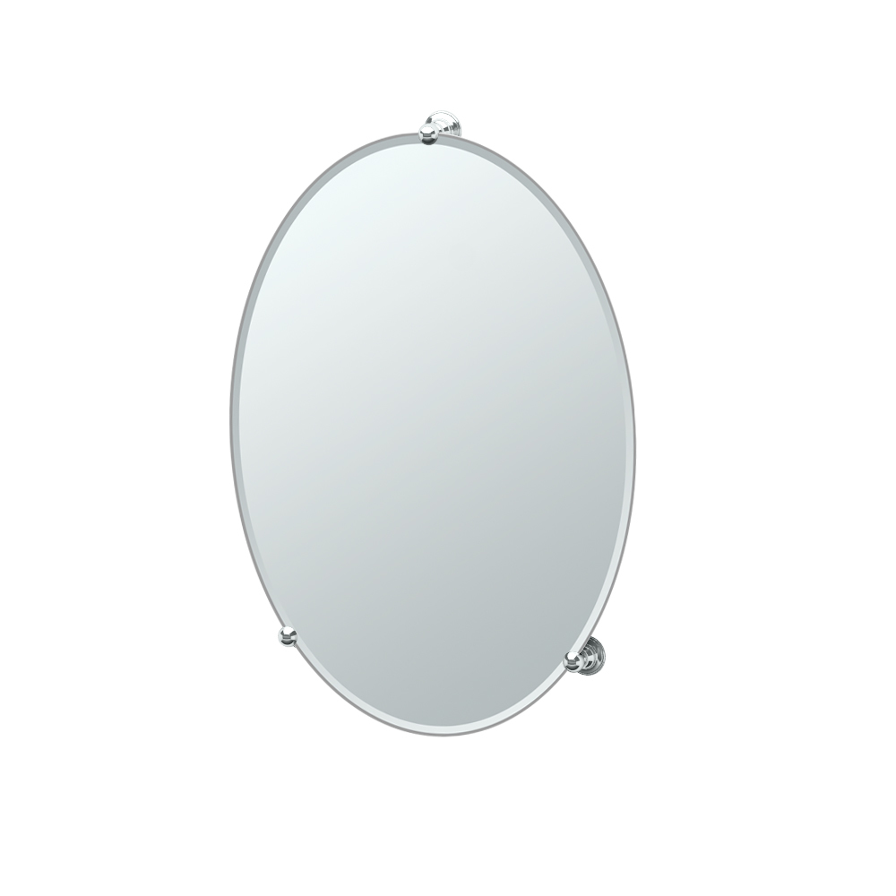 Additional Fixed Mount Classical Mirror in Chrome