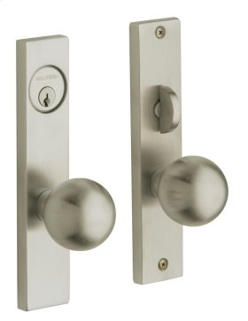 Satin Nickel with Lifetime Finish Detroit Entrance Trim