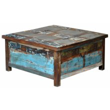 Painted Lift Top Trunk Coffee Table