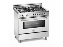 White 36 5-Burner, Electric Self-Clean Oven