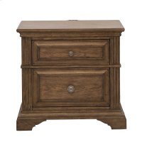 Nightstand with Two Drawers and USB Port Product Image