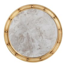 Large Gold Leaf Federal Style Frame With Antique Mirror.
