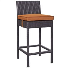 Convene Outdoor Patio Fabric Bar Stool in Espresso Orange Product Image