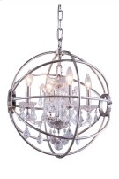 """1130 Geneva Collection Chandelier D:17"""" H:19.5"""" Lt:4 Polished nickel Finish (Royal Cut Crystals) Product Image"""