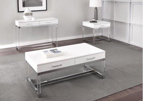 "Everett Sofa Table, White 43""x14""x30"