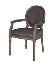 Grayson Rustic Wood and Gray Linen Chair Product Image