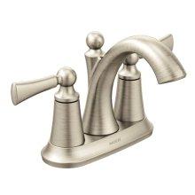 Wynford brushed nickel two-handle bathroom faucet