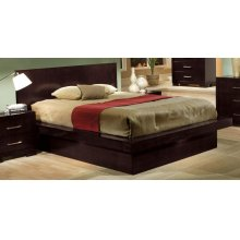 Jessica Dark Cappuccino King Platform Bed