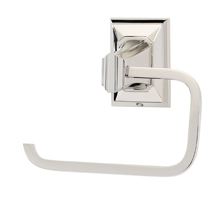 Geometric Single Post Tissue Holder A7966 - Polished Nickel