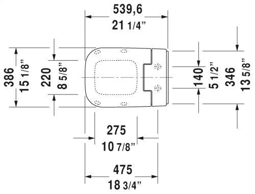 White Sensowash® Slim Sensowash Slim Shower-toilet Seat For P3 Comforts