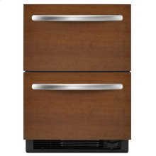 4.8 Cu. Ft. 24'' Double-Drawer Refrigerator/Freezer Combination Overlay Panel-Ready - Panel Ready