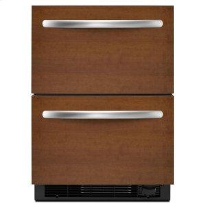 Kitchenaid4.8 Cu. Ft. 24'' Double-Drawer Refrigerator/Freezer Combination Overlay Panel-Ready - Panel Ready