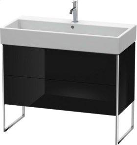 Vanity Unit Floorstanding, Black High Gloss Lacquer