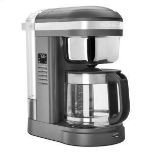 Kitchenaid12 Cup Drip Coffee Maker with Spiral Showerhead and Programmable Warming Plate - Matte Charcoal Grey