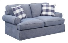 Mountain Retreat - Loveseat-pool Blue W/2 Pillows and 2 Pillows