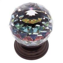 Old World Bronze 50 mm Round Prism Knob