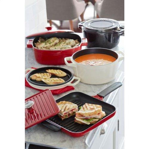 KitchenAid® Professional Cast Iron 4-Quart Casserole - Almond Cream