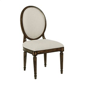 Oval Back Side Chair Black Forest