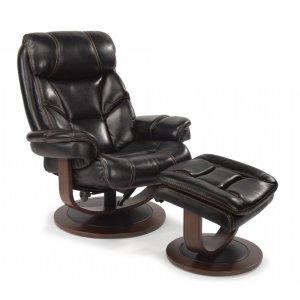 FLEXSTEELHOMEWest Leather Chair and Ottoman