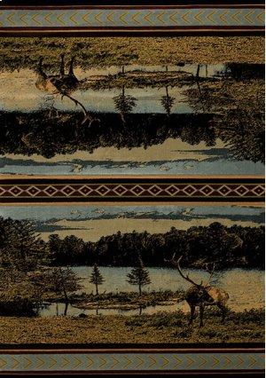 Contours/cem Antler Lake Blue Rugs