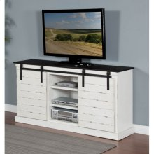 French Country Barn Door TV Console