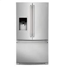 GRAND SAVINGS!!! FOR THIS FLOOR DEMO MODEL ELECTROLUX STAINLESS STEEL Counter-Depth French Door Refrigerator with Wave-Touch® Controls; MODEL EW23BC87SS / 6 MONTH FULL WARRANTY