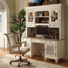 Coventry Two Tone - Shutter Door Credenza - Weathered Driftwood/dover White Finish