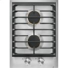 """15"""" 2-Burner Gas Cooktop, Stainless Steel Product Image"""