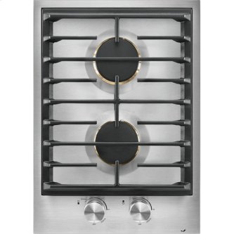 "15"" 2-Burner Gas Cooktop, Stainless Steel"