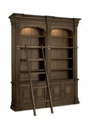 Double Bookcase with Ladder and Rail Product Image