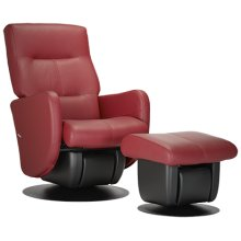 The modern-looking Boston glider is part of the AvantGlide collection and features square seatback and sleek armrests.