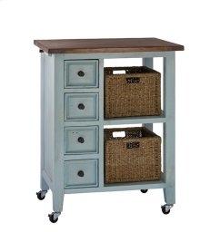 Tuscan Retreat®2 Basket Kitchen Cart- Sea Blue