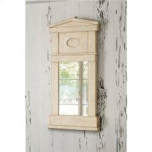 Pediment Mirror - Antique White
