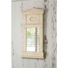 Pediment Mirror - Antique White
