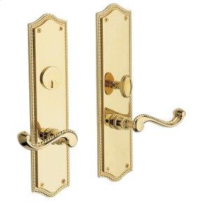 Lifetime Polished Brass Bristol Escutcheon Entrance Set
