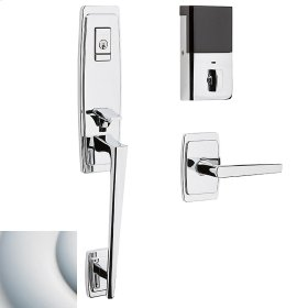 Satin Chrome Evolved Palm Springs 3/4 Escutcheon Handleset