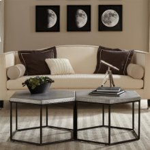 Lyric - Hexagon Coffee Table - Gun Metal Finish