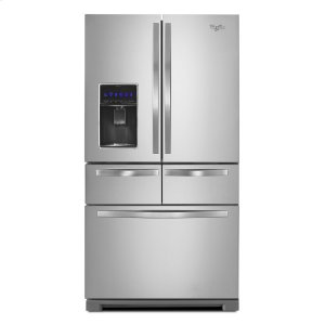 Whirlpool36-inch Wide Double Drawer French Door Refrigerator with Dual Cooling System - 26 cu. ft.