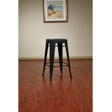 "Bristow 26"" Antique Metal Barstool, Antique Black Finish, 4 Pack"