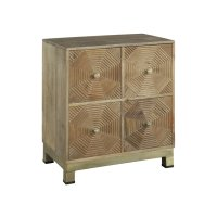 Drawer Chest with Carved Hex Pattern Product Image