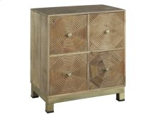 Drawer Chest with Carved Hex Pattern