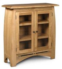 Aspen Short Bookcase, Glass Doors, Aspen Short Bookcase with Inlay, Glass Doors, 2-Adjustable Shelves Product Image