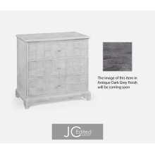 Antique Dark Grey Small Chest of Drawers
