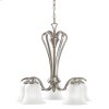 Wedgeport Collection Wedgeport 5 light Chandelier in Brushed Nickel