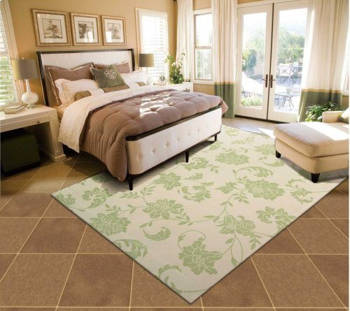 Home & Garden Rs014 Gre Rectangle Rug 7'9'' X 10'10''