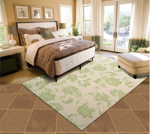 Home & Garden Rs014 Gre Rectangle Rug 7'9'' X 10'10''