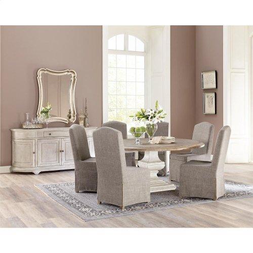 Elizabeth - Upholstered Hostess Chair - Antique Oak Finish