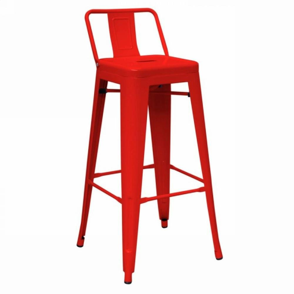 Dink - Modern Red Metal Counter Stool (Set of 2)