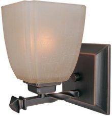1-lite Wall Lamp, Cop Brz/woven Pattern Glass Shade, A 60w