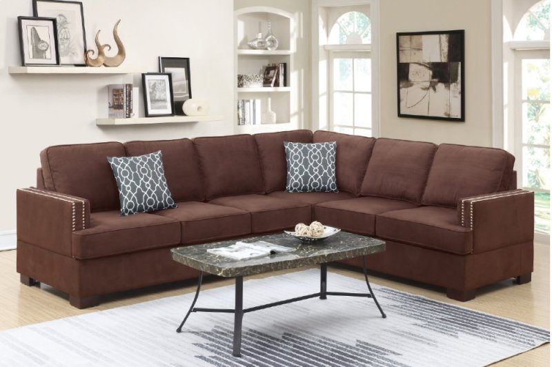 F6598 in by Poundex in Phoenix, AZ - 2-pcs Sectional Sofa